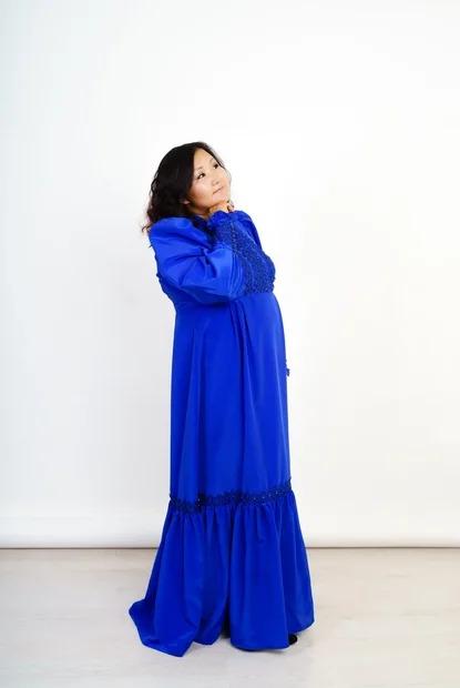 Вечернее стилизованное платье «халадаай»