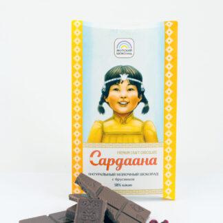 Молочный шоколад с брусникой «Сардаана» 38% какао