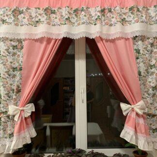 Комплект штор для кухни Розовый сад
