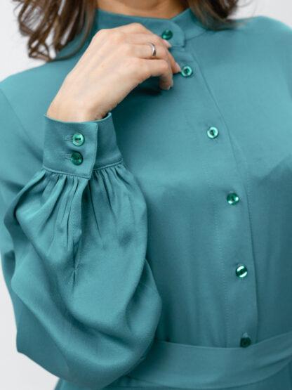 Изумрудное платье. 14000 руб