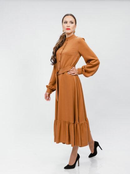 Платье цвета охра. 7990 руб
